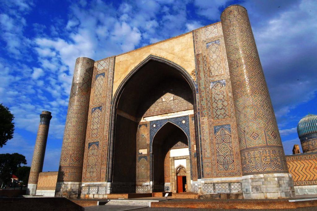 Beautiful Entrance Gate Of The Bibi Khanym Mosque