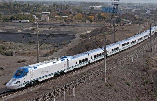Tashkent Bullet Train Running View