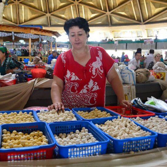 Chorsu Bazaar - Shopkeeper