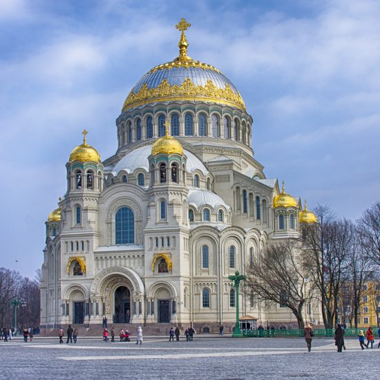 The Naval Cathedral of Saint Nicholas in Kronstadt Winters