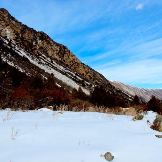 Alamedin Gorge Snow Hills