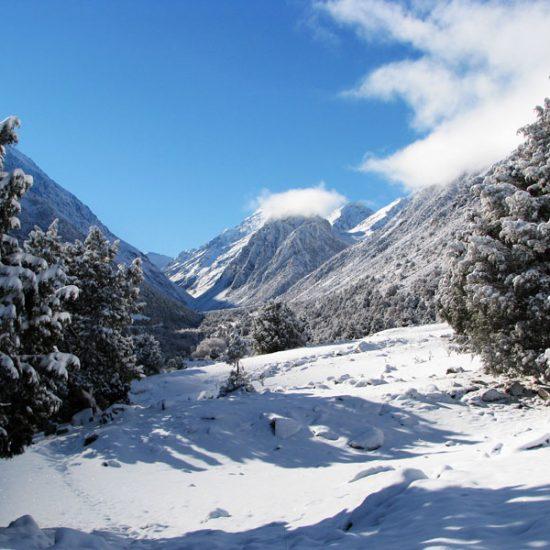 Alamedin Gorge Snowfall