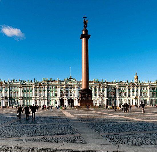 Alexander Column - Palace Square View