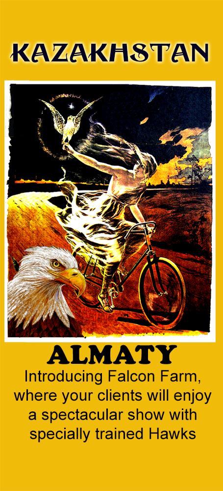 Almaty Falcon Farm - Mailer