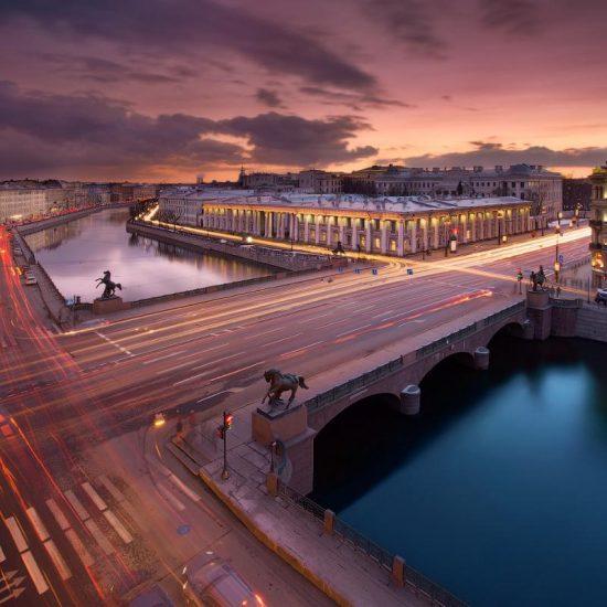 Anichkov Bridge Scenic View