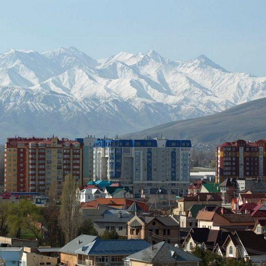 Bishkek-City with Mountains