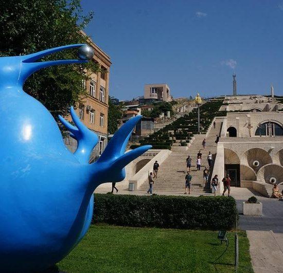 Blue Kiwi Statue Yerevan