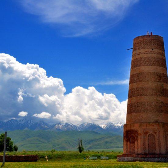 Burana Tower White Clouds