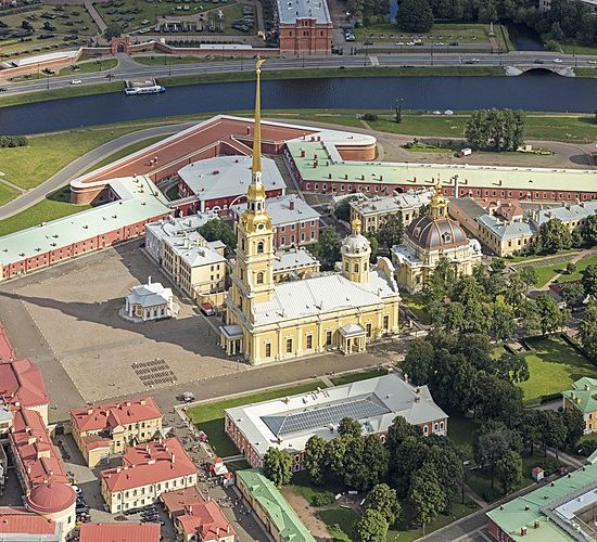 Cathedral of Saints Peter and Paul - Aerial View