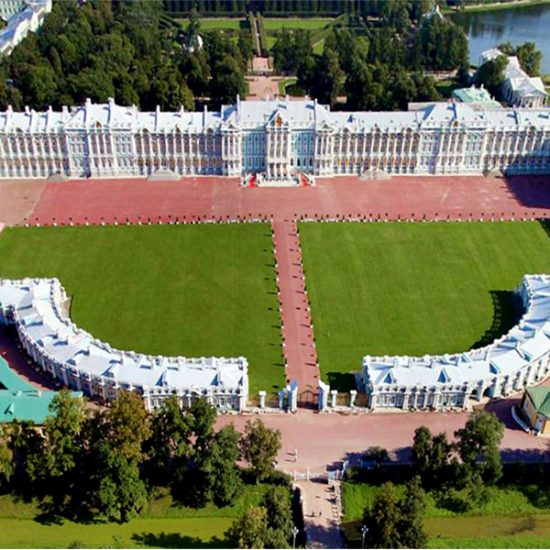 Catherine Palace and Park - Aerial View