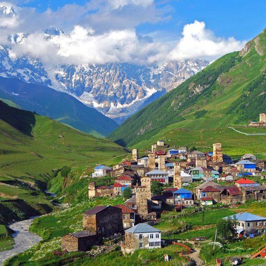 Caucasian Mountains Village