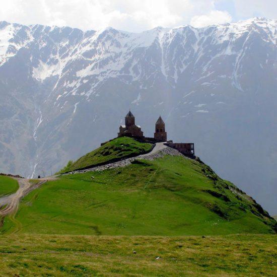 Caucasian Mountains Scenic View
