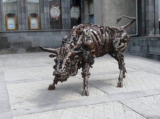 Charles Aznavour Square Bull Metal Art