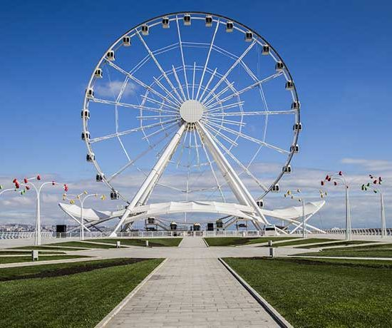 Baku Ferris Wheel Front View