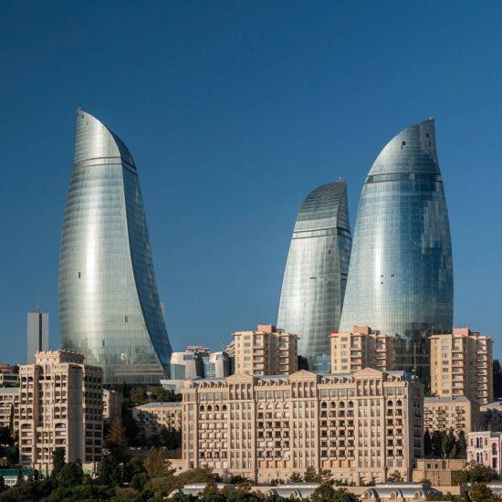 Flame Towers Baku - Afternoon View