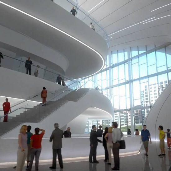 Heydar Aliyev Cultural Center Inside