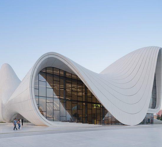 Heydar Aliyev Cultural Center Front View