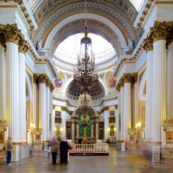 Holy Trinity Alexander Nevskiy Lavra Inside View