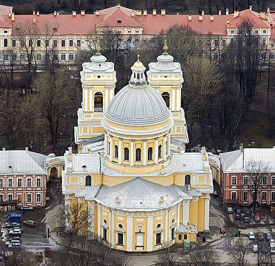 Holy Trinity Alexander Nevskiy Lavra - Aerial View