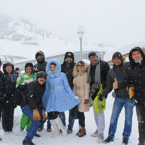 Tourist in Shymbulak, Almaty