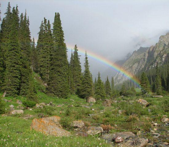 Issyk-Ata Gorge Rainbow