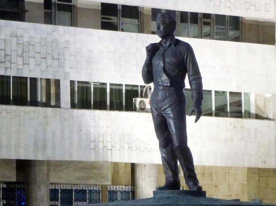 Monument to Chingiz Aitmatov