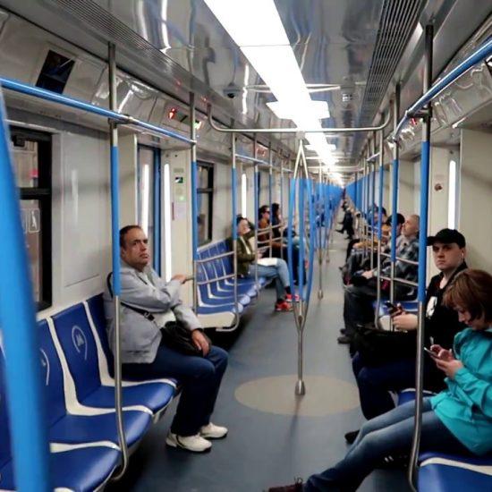 Moscow Metro Inside Train