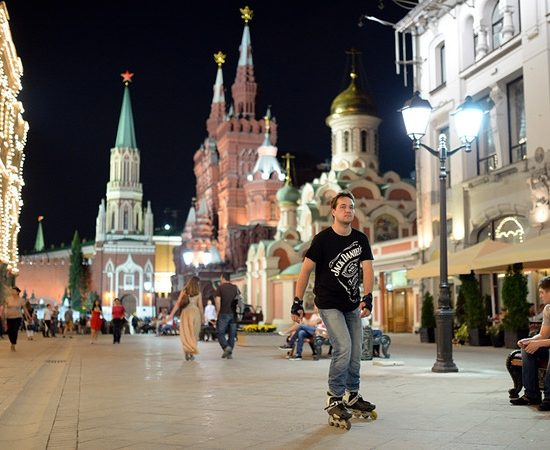 Nikolskaya Street Night View