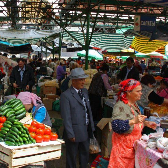 Osh Bazaar Rush