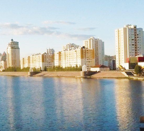 River Ishim Embankment Astana