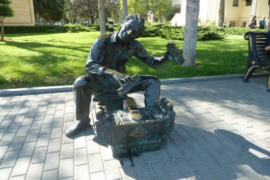Sculpture the Shoe Polisher