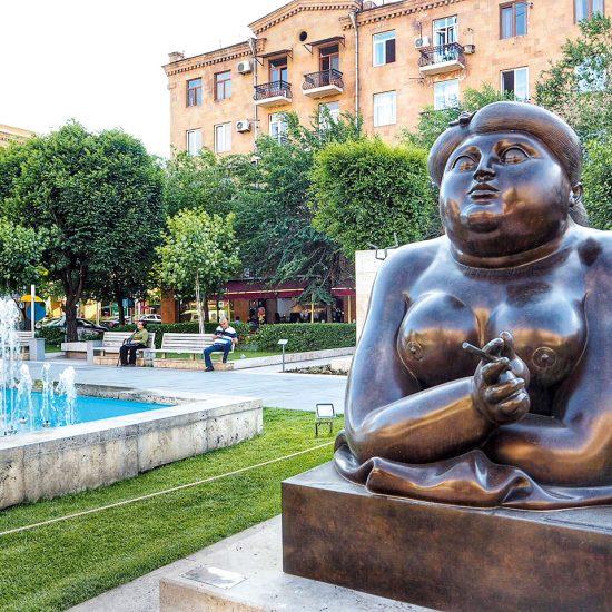 Smoking Woman Statue