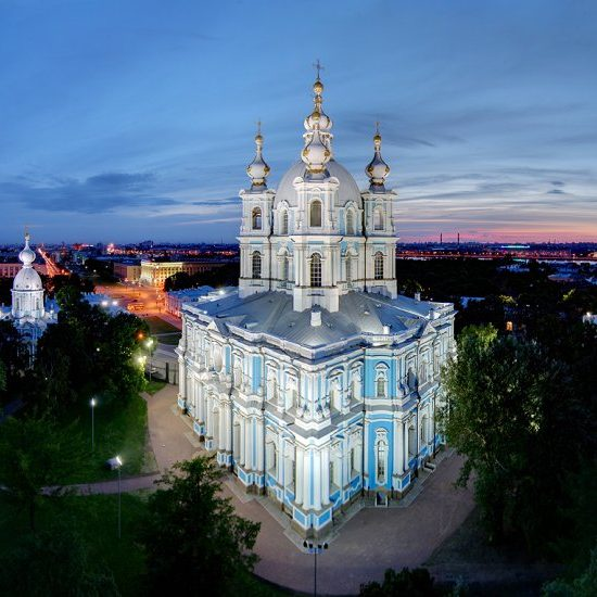 Smolny Cathedral Aerial View
