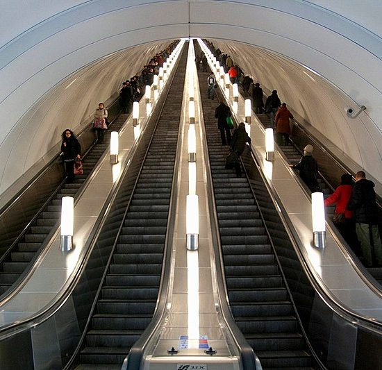 St. Petersburg Metro Escalator