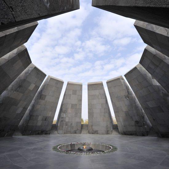 Eternal flame in Tsitsernakaberd memorial