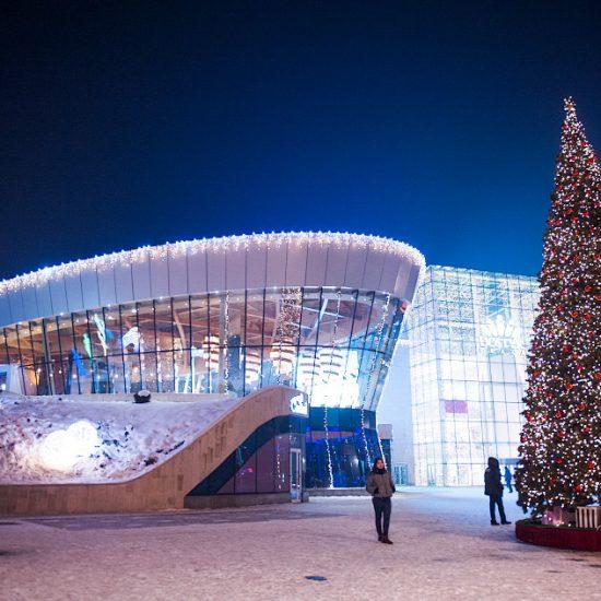 Dostyk Plaza Almaty - Night View