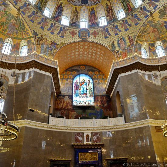 The Naval Cathedral of Saint Nicholas in Kronstadt Inside