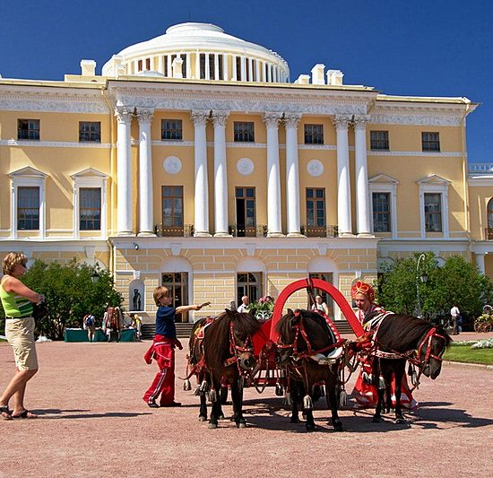 Pavlovsk Palace and Park - Riding on Horse