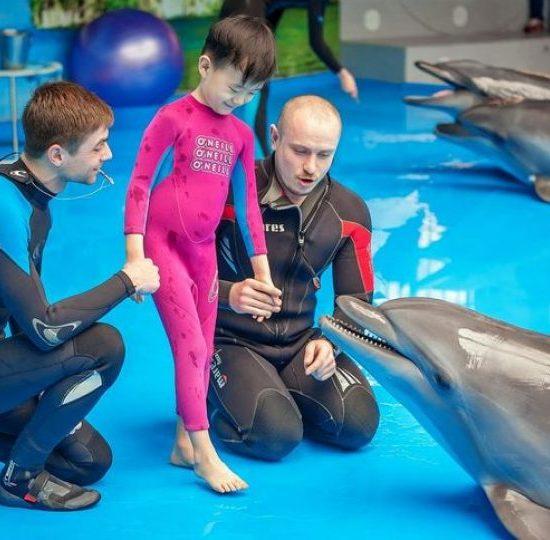 Dolphinarium Kids Playing