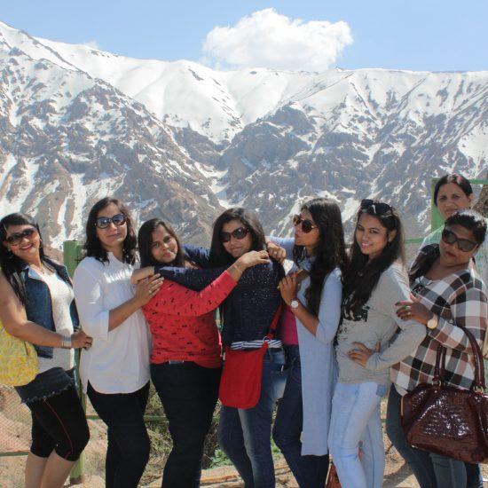 Tourists on Chimgan Mountains