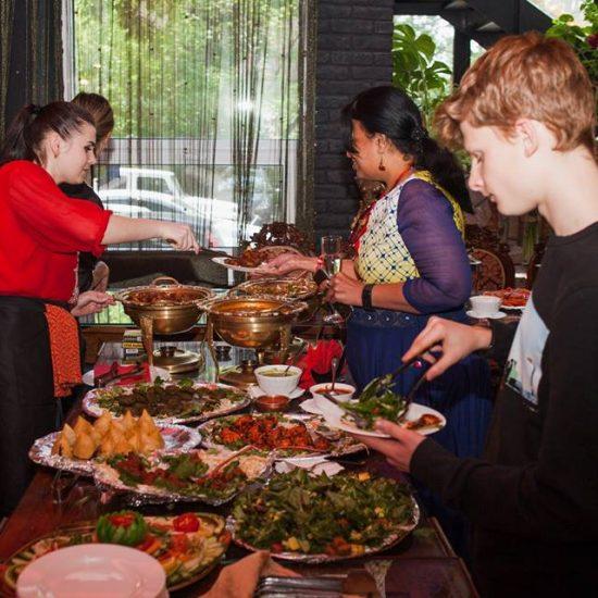 Serving Food - Himalaya Restaurant Kiev